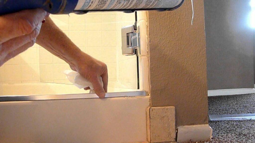 seal a shower screen
