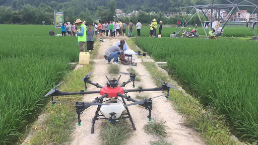 Agricultural treatments with drones